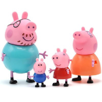 Peppa Pig Little Girl George Family 4 Piece Mom and Dad Figures