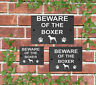 Beware of the Dog Slate Door Gate House Sign 3 Sizes All Breeds available A - C