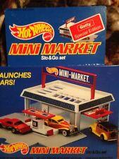 Hot Wheels (1987) Mini Market Getty Oil & Gas Special Edition Sto & Go Set NIB