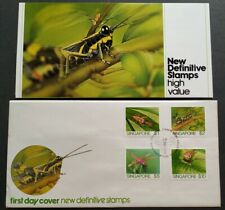 Singapore 1985 Insects Definitive High Value 4v Stamps FDC 新加坡4全高面值邮票首日封 --- 昆虫