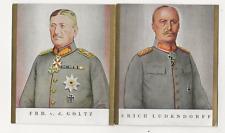 62/496 SAMMELBILD E. LUDENDORFF GENERAL INFANTRIE + v.d. GOLTZ ORDEN UNIFORM