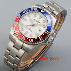 43mm Bliger Men watches white dial sapphire glass GMT Luminous automatic Watches