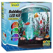 TETRA 3g LED Bubbler Aquarium Kit Desktop Tank - Just Add Water & Fish -TM29041
