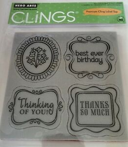 Hero Arts Clings Framed Messages * Rubber Stamps NEW*