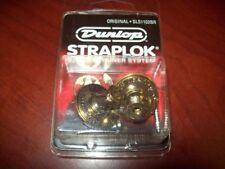 NEW Dunlop Original Straplok Strap Lock System - BRASS, SLS1102BR