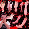 EE_ Walking Dead Halloween Bloody Hands Foot Finger Zombie Arm Prop Body Parts F