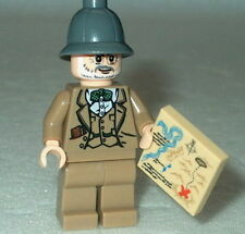 INDIANA JONES #02 Lego Henry Jones w/Map NEW Genuine Lego 7198 1st issue