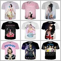 Fashion Women/Men Anerica Singer Melanie Martinez 3D Print Casual T-Shirt