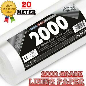 20m Erfurt Mav Professional Grade 2000 Lining Paper Wallpaper Double Roll UK