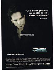 2003 BUZZ FEITEN Guitar Tuning System STEVE VAI Vtg Print Ad