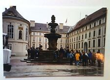 Vintage 90s Photo EUROPEAN TRAVEL QUEENS HOTEL PEOPLE  AROUND THE FOUNTAIN