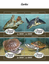 Sierra Leone 2018 MNH Turtles Turtle 4v M/S Reptiles Stamps