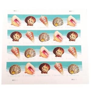 Seashells Postcard Stamp USPS Forever Stamps, Sheet of 20 US Postage Card Stamps