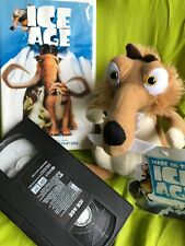 """2 Items Vhs Movie Plus 7"""" Ice Age Scrat Squirrel Plush Toy New with Tag!"""