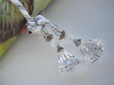 2er Set edle Glamour Servietten Ringe Halter Serviettenring Acryl Glas Kristall