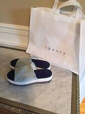 Theory Denim Jeans Platform Espadrille Shoes Italy New 9.5