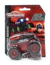 Majorette Model Car metal Monster Truck Rockerz Serie Ford Pick Up Police black