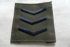 Vintage? Sergeant military embroidered patch badge,free u.k. p&p