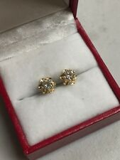 14K YELLOW GOLD DIAMOND STUD EARRINGS .50 TCW