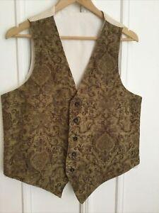 Vintage Men's Handmade Tapestry Waistcoat Size S/M
