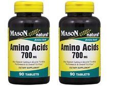 ( PACK OF 2 ) 90 TABLETS SUPER AMINO ACIDS 700 mg L-ARGININE muscle performance