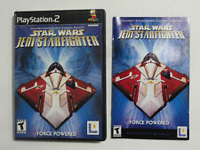 NO GAME  PLAYSTATION 2 STAR WARS JEDI STARFIGHTER - CASE & MANUAL ONLY -NO GAME