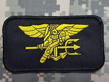U.S. Navy SEALs Special Warfare morale nametag velcro parche negro