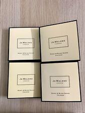 4x Jo Malone PEONY & BLUSH SUEDE Cologne Floral Women Sample Vial .05 oz/1.5mL