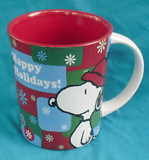 Happy Holidays! Snoopy Coffee Mug, large Gibson 15oz Peanuts Christmas cup