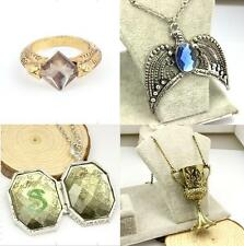 Harry HP Horcrux Set 4PCS Sorcerer's Stone Ring Diadem Hufflepuff Cup Locket