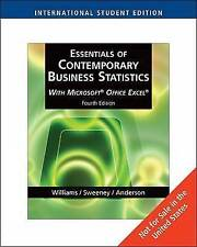 Essentials of Contemporary Business Statistics , International Edition (with Onl