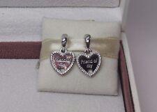 New w/Box Pandora 2 Pc Hearts of Friendship w/ CZ Charm 792147CZ PARTY GIRL LINE