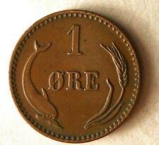 1889 DENMARK ORE - AU - Great Vintage Coin - FREE SHIPPING - Denmark Bin A