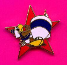 1984 LA OLYMPIC YACHTING PIN SAM THE EAGLE MASCOT RED STAR PIN