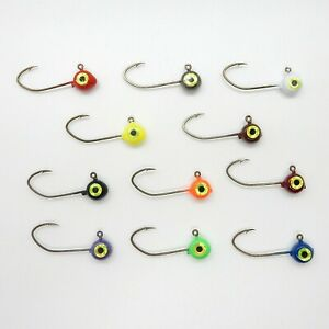 10 Pack Painted FreeStyle Jig Heads Various Sizes and Colors with Sickle Hooks