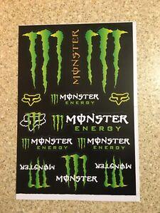 A4 Monster Fox 2 Pack sticker sheet decals graphics stickers Motorcross Mx