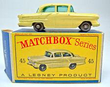 """Matchbox RW 45A Vauxhall Victor gelb graue Räder in """"D"""" Box"""