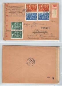 Nice Cover - Nagykanizsa, Hungary to Hranice, Czech Registered Censored 1943
