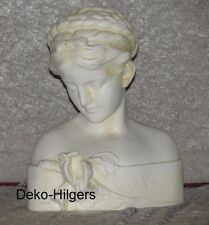 Büste Iris Kopf Figur Frau Stuckgips Skulptur Deko Statue Crem Optik  2004