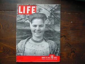 1945 Life Magazine March 19 Dutch Girl Bombing Berchtesgaden Tokyo Betty Grable