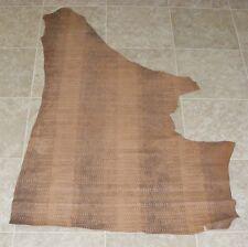 (SVA7223) Part Hide of Brown Printed Cow Leather Hide Skin