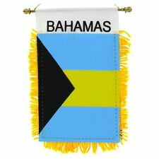 BAHAMAS flag automobile rearview mirror or window flag car Home BAHAMIAN pride