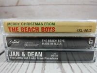 Cassette Tape Lot THE BEACH BOYS Merry Christmas Made In USA JAN DEAN Old Lady