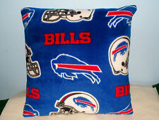 NEW BUFFALO BILLS FLEECE PILLOW BLUE RED FOOTBALL NFL MADE IN THE USA