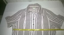Womens Millers Top, Size 14, Short Sleeves, Cotton, Stripes