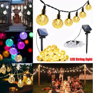 50 100 LED Solar Powered Fairy Garden Lights String Outdoor Party Wedding Xmas