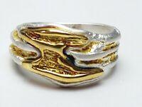 Moser & Pfeil Eisingen Vintage Ring 925 Silber/Gold - RG 53/54 - 17 mm A 360