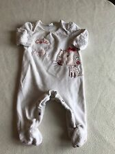 Baby Girls Clothes 3-6  Months- Cute  Velour  Babygrow Sleepsuit
