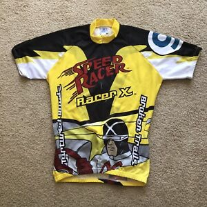 Vtg Speed Racer X Cycling Jersey Mens XL Rare Adrenaline Cycle