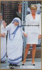 LADY DIANA PRINCESS OF WALES MOTHER TERESA IMPERFORATED 1997 MNH STAMP SHEETLET